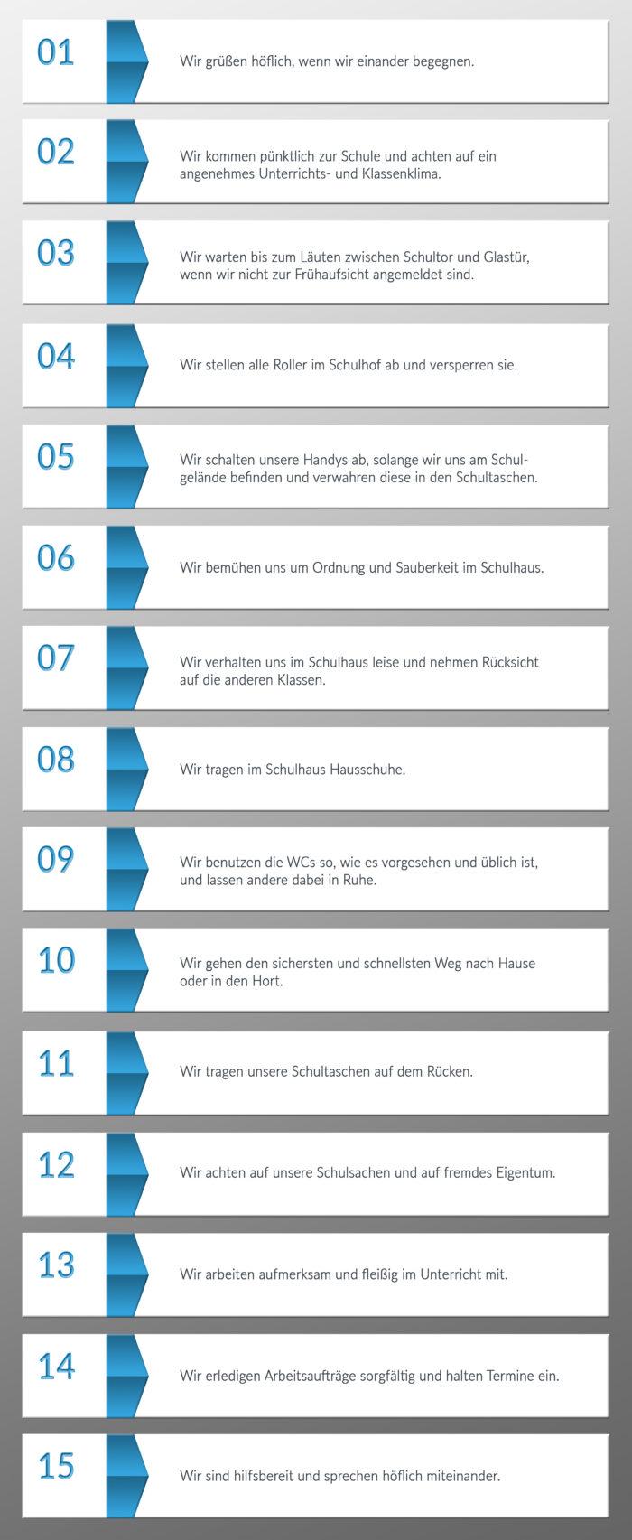 Schulregeln blau 2017
