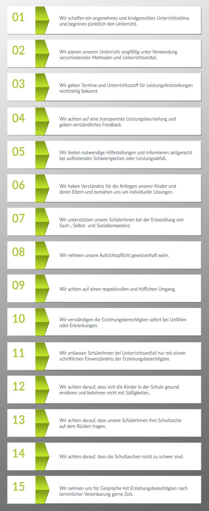 Schulregeln grün 2017